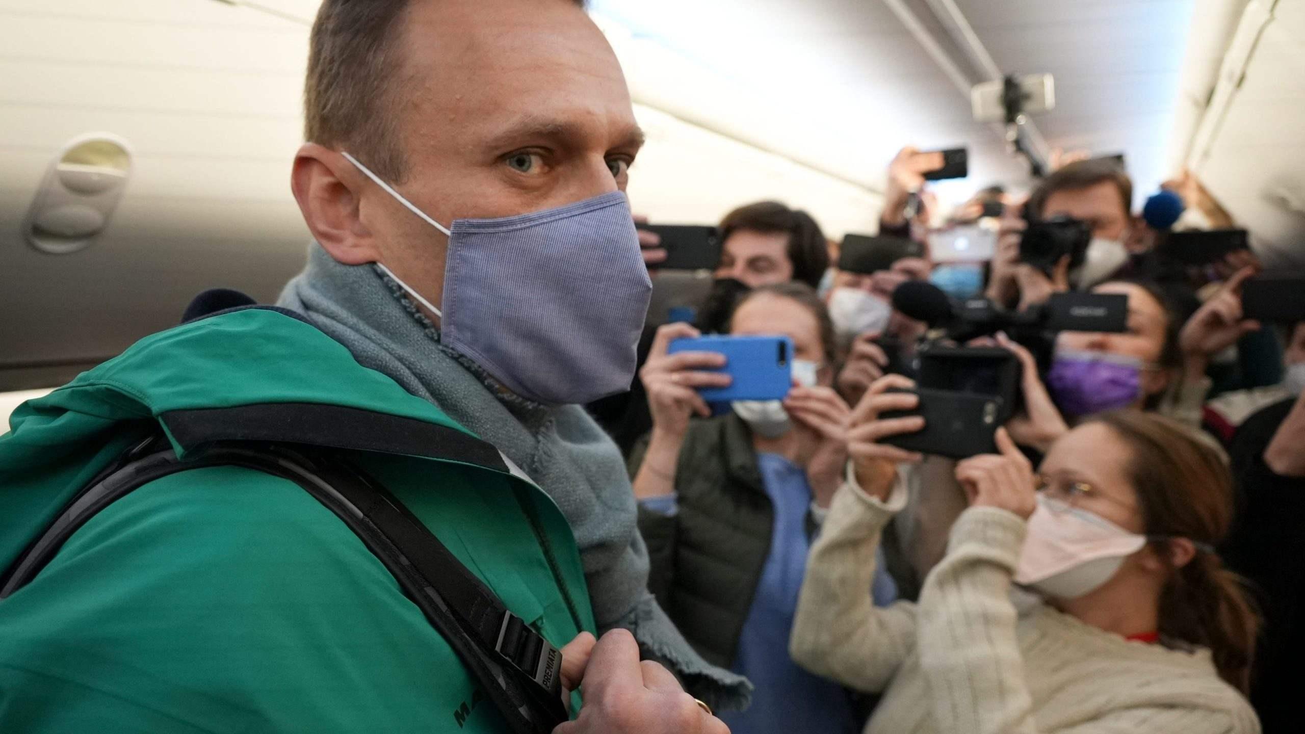 El jefe del Consejo Europeo discutió con Putin el arresto de Navalny
