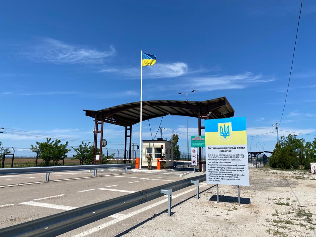 """Un residente de Zaporozhye trató de """"embestir"""" un puesto de control en la frontera de Ucrania con Crimea."""
