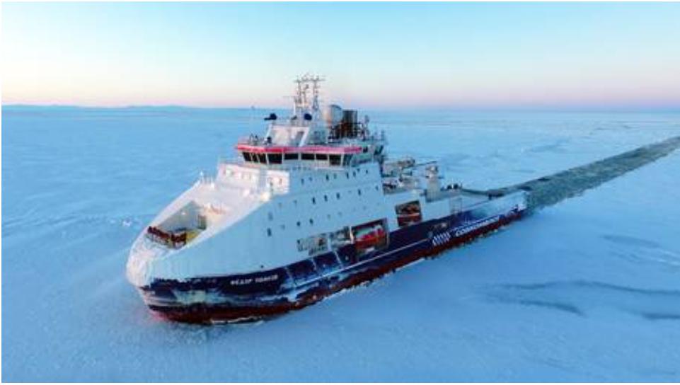El envío por la ruta marítima del Ártico de Rusia supera los 33 millones de toneladas en 2020