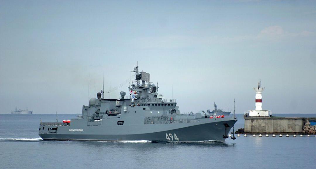 Primer buque de guerra de Rusia llega a Sudán África
