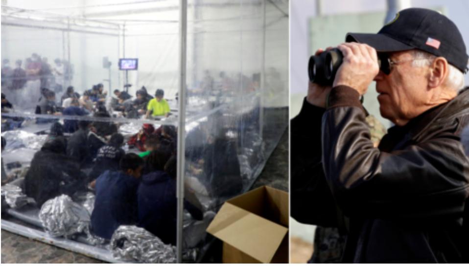 """Biden finalmente """"admite"""" la crisis fronteriza dice que Estados Unidos no pudo manejar el aumento de inmigrantes y aumentar los recibimientos al mismo tiempo"""