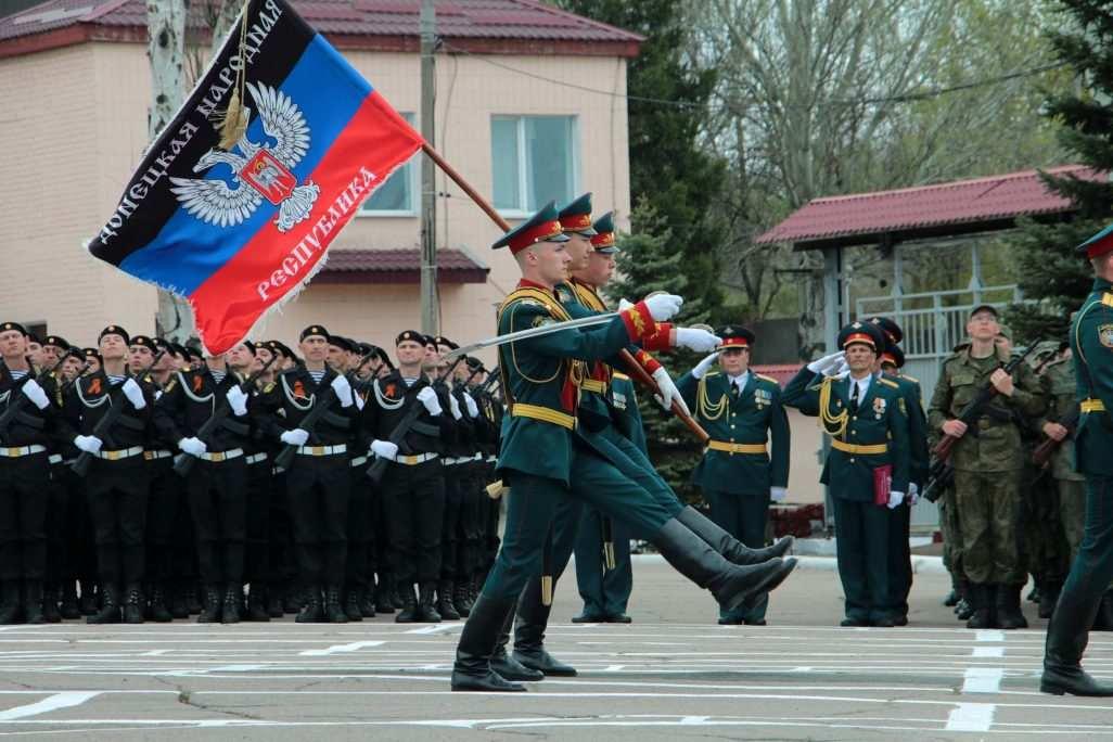En fotos-Los primeros reclutas prestaron juramento de fidelidad a la República Popular de Donetsk