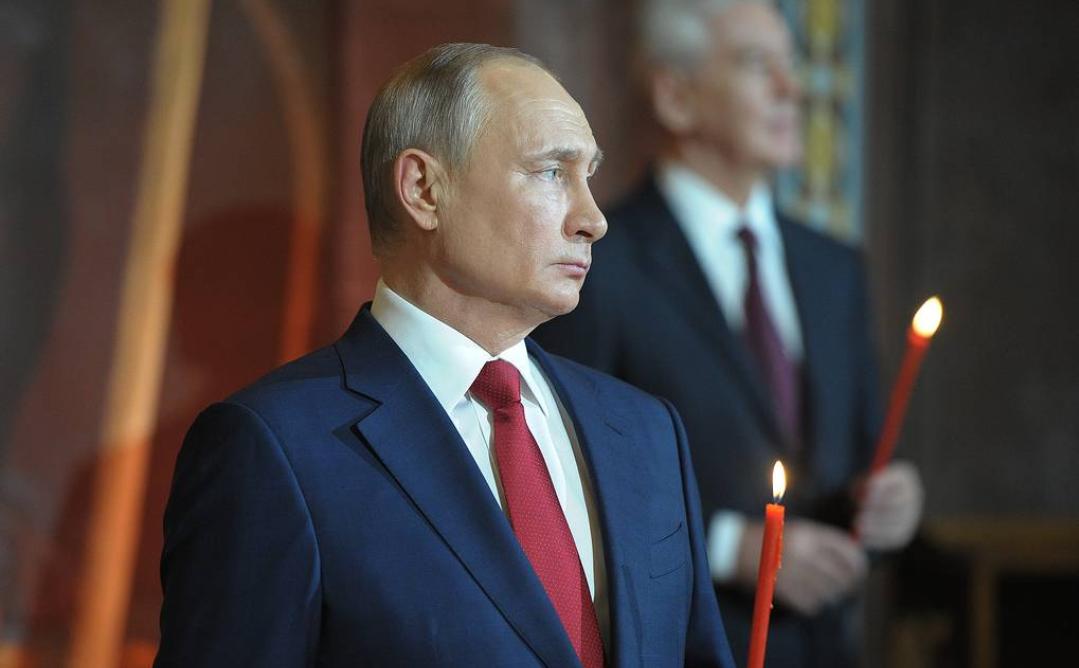 Presidente Putin de Rusia felicita a los cristianos ortodoxos en la Pascua
