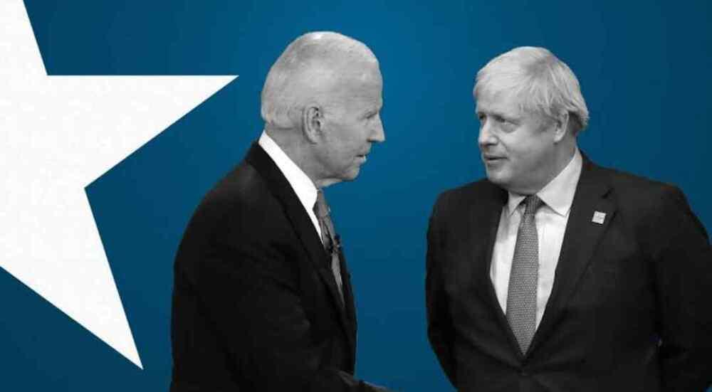 Boris Johnson del Reino Unido y Joe Biden de Estados Unidos discuten sobre China, Irán y Rusia