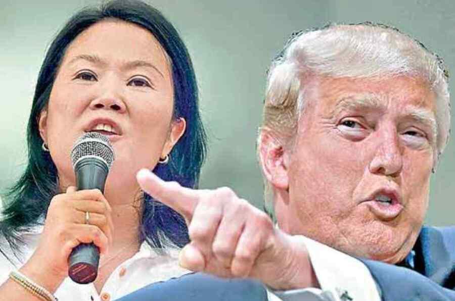 """Organización de derechos humanos reprocha a Keiko Fujimori por """" imitar a Trump'' e intentar impugnar las elecciones en Perú"""