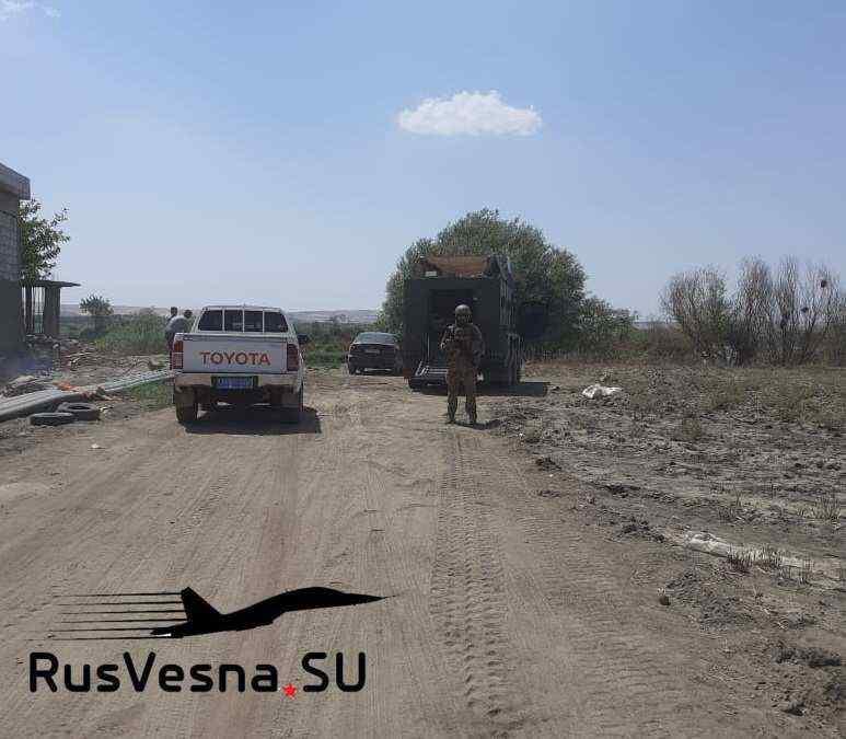 Los militares rusos en el río Éufrates en Siria: el ejército estadounidense no pudo hacer frente a la agresión de un socio de la OTAN (+ Fotos)