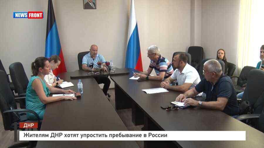 En video-Los residentes de la República Popular de Donetsk quieren simplificar su estancia en Rusia