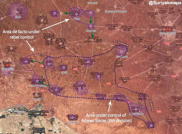El ejército sirio inicia una operación militar en Daraa para someter a los extremistas restantes