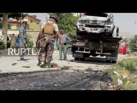 En video-Afganistán: cohetes impactaron cerca del palacio presidencial durante las oraciones del Eid