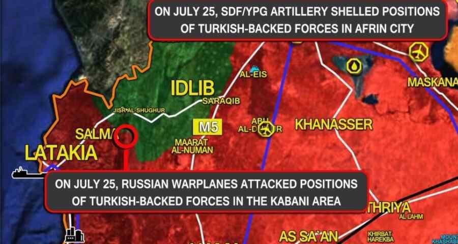 Turquía y los terroristas atacan juntos contra Siria