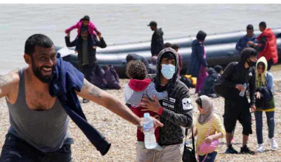 Reino Unido tiene el mayor número de inmigrantes en un día en la historia