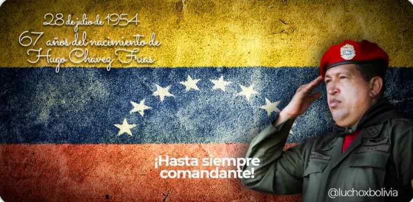 Venezuela rinde tributo al comandante Hugo Chávez en su natalicio
