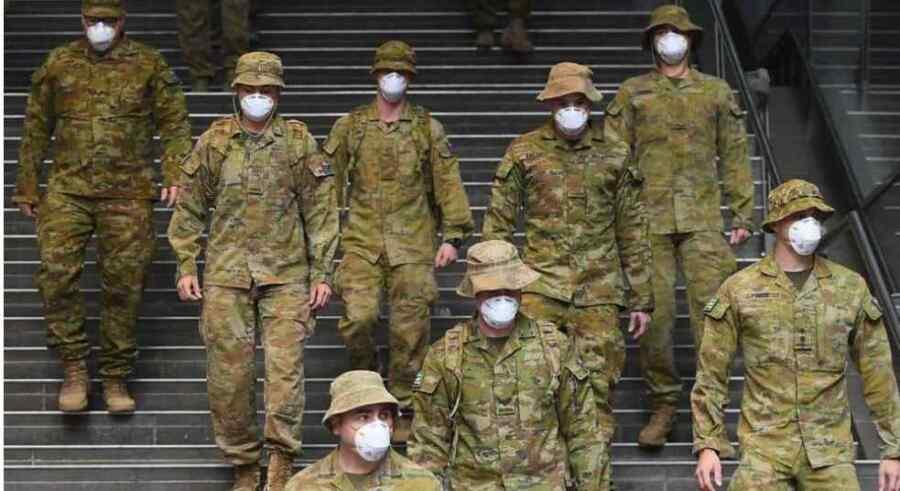 Ley marcial ? El ejército llega a las calles de Sydney en Australia para ayudar a la policía a tomar medidas enérgicas contra los antibloqueo