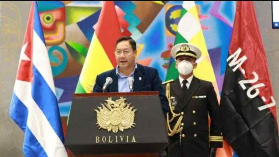 Presidente Luis Arce dice que la ayuda solidaria de Bolivia va camino hacia Cuba