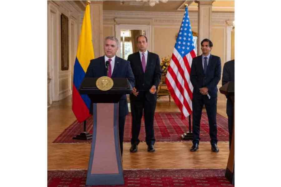 Duque de Colombia recibe a delegación de Estados Unidos