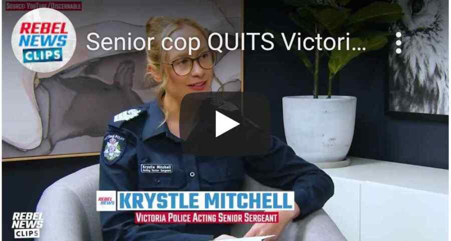 (Video) Una destacada mujer policía de Victoria renuncia a la Fuerza por romper el silencio sobre el bloqueo del fascismo covid